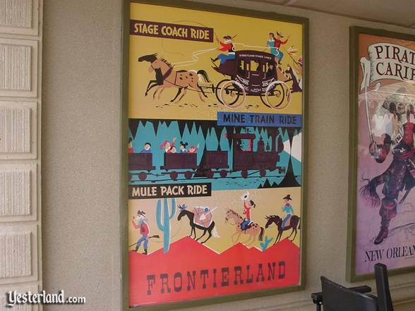 Vintage Frontierland poster in 2001