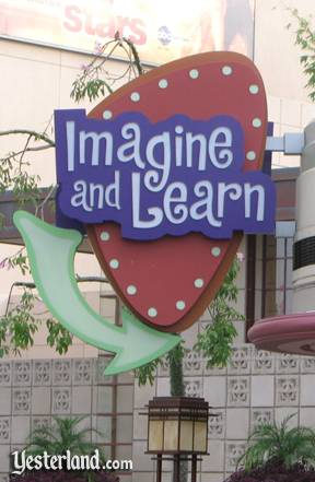 'Imagine and Learn' sign