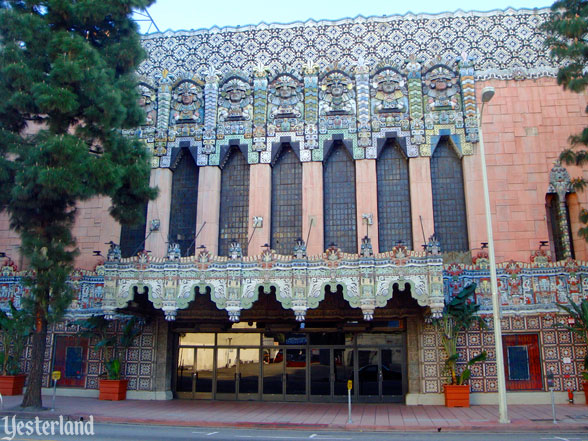 Exterior of the Mayan Theater, 1040 South Hill St., Los Angeles