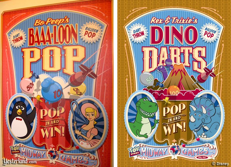 Toy Story Midway Mania! dart game posters