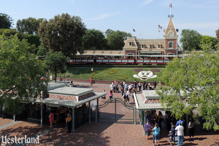 Disneyland entrance from the Monorail, 2013