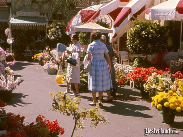 Photo of Main Street Flower Mart, 1960