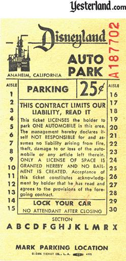 Parking receipt from 1963