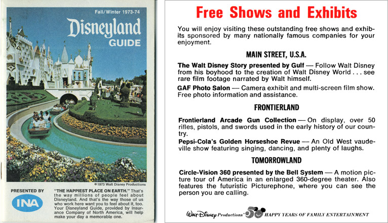 1974 Disneyland Guide Book