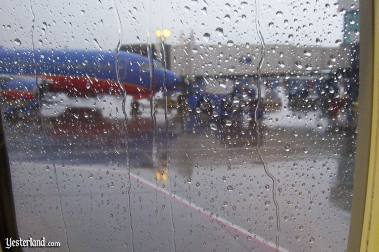 rain at Denver International Airport