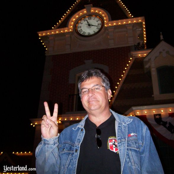 John Delmont at Disneyland Main Street Station