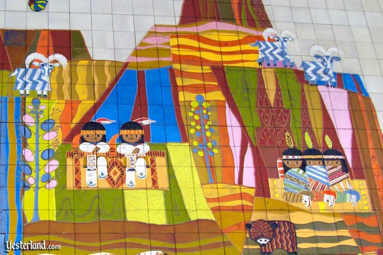 detail from Mary Blair mural at Disney's Contemporary Resort