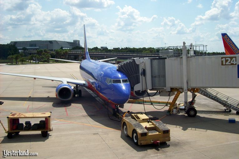 Southwest Airlines jet at Orlando International Airport