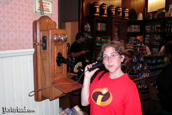 Photo of a party line telephone, Disneyland
