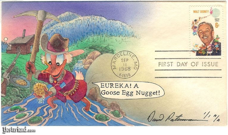First Day Cover with Scrooge McDuck