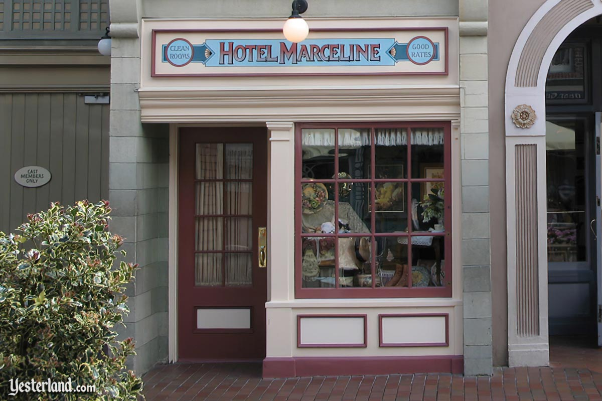 Hotel Marceline sign at Disneyland