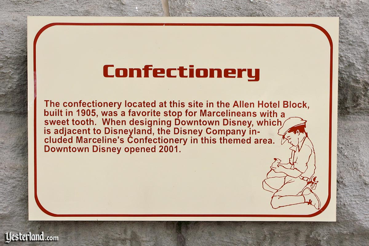 Sign in Marceline, Missouri about Marceline's Confectionary