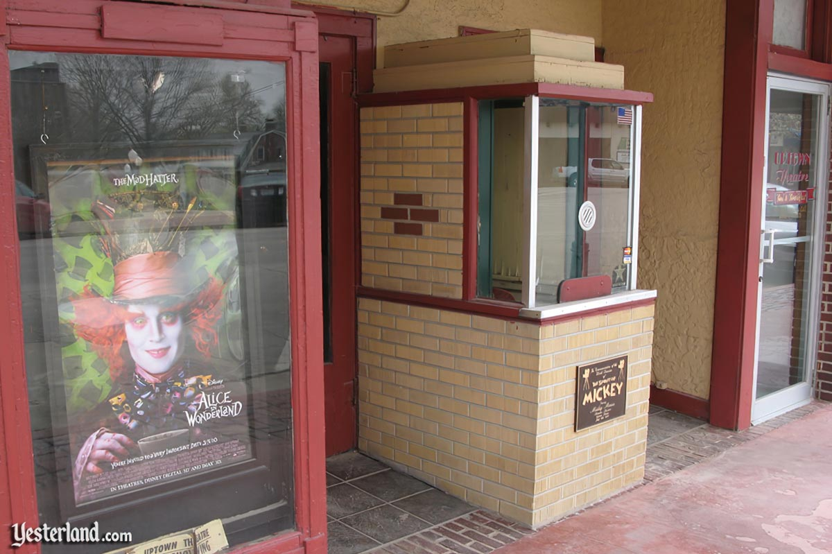 Box office of the Uptown Theatre in Marceline, Missouri