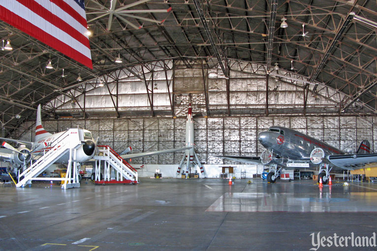 Inside the Airline History Museum hangar