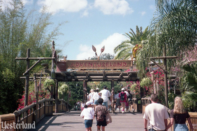 Bridge to Adventureland, Magic Kingdom, 1996