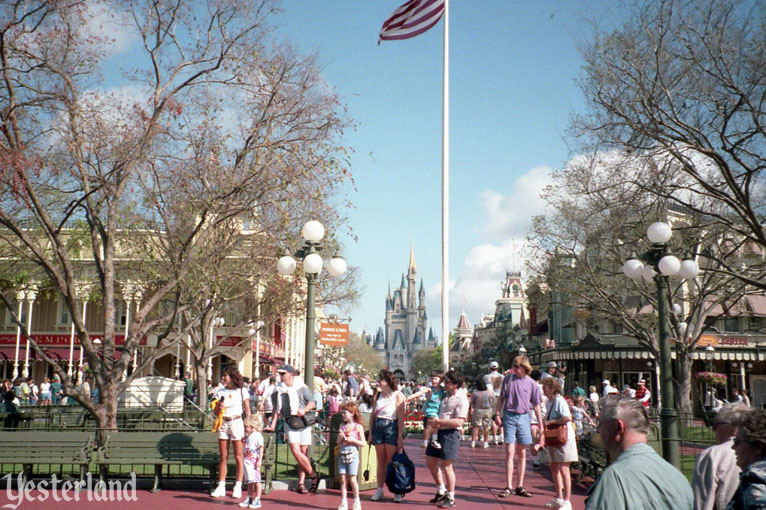 Looking up Main Street, U.S.A., Magic Kingdom, 1996