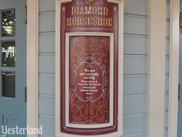 Diamond Horseshoe closed sign