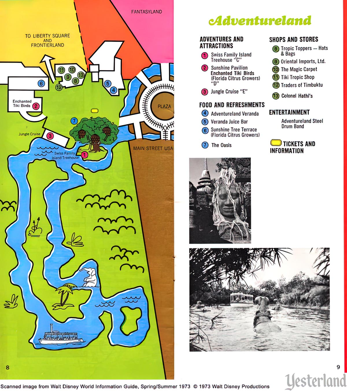 Walt Disney World, Magic Kingdom, 1973, Adventureland