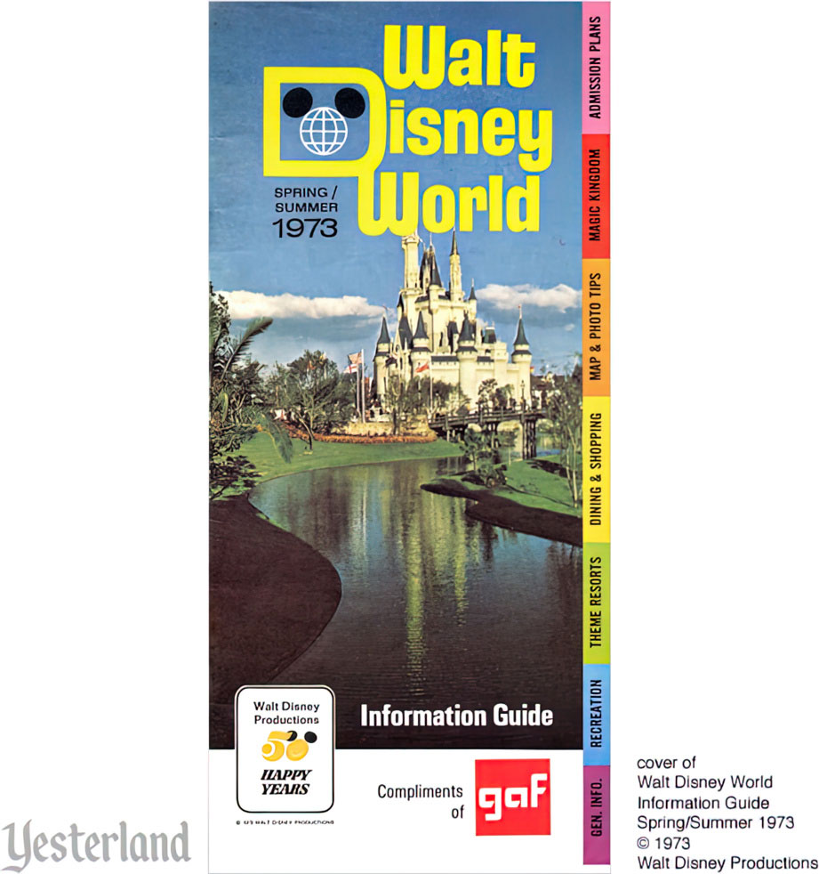 Walt Disney World, Magic Kingdom Spring-Summer 1973 Information Guide