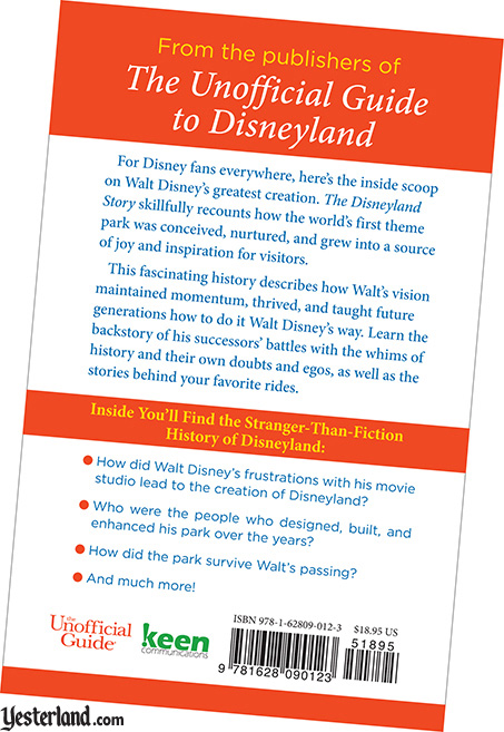 back cover: The Disneyland Story