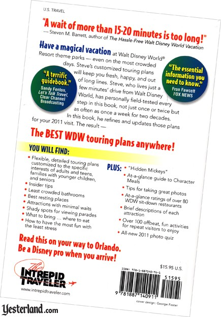 Scan of back cover of The Hassle-Free Walt Disney World Vacation