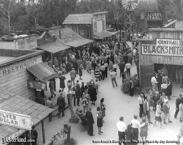 Photo from Knott's Berry Farm: The Early Years: Main Street, 1947