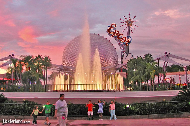 Epcot Fountain in 2003