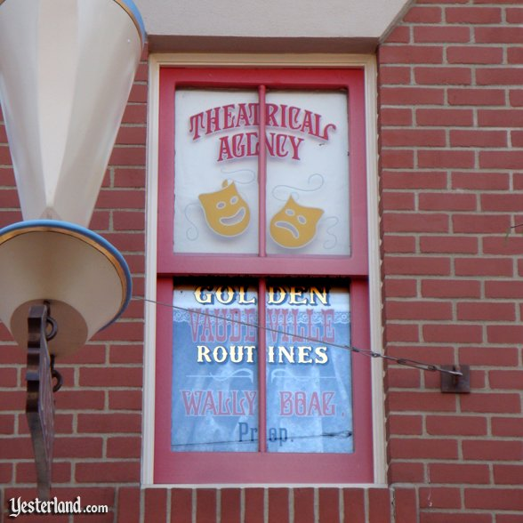 Wally Boag window on Main Street