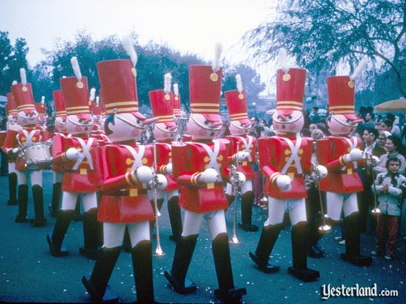 The toy soldiers from Babes in Toyland on parade