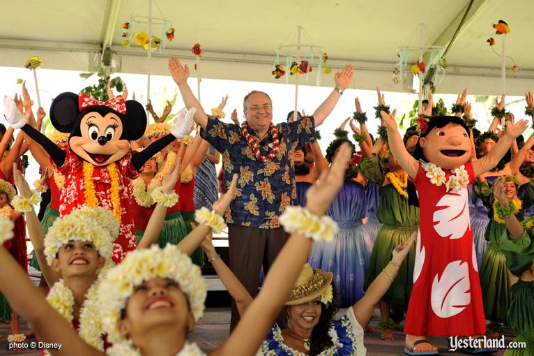 Photo of finale celebration at Disney Ko Olina ground breaking: © Disney