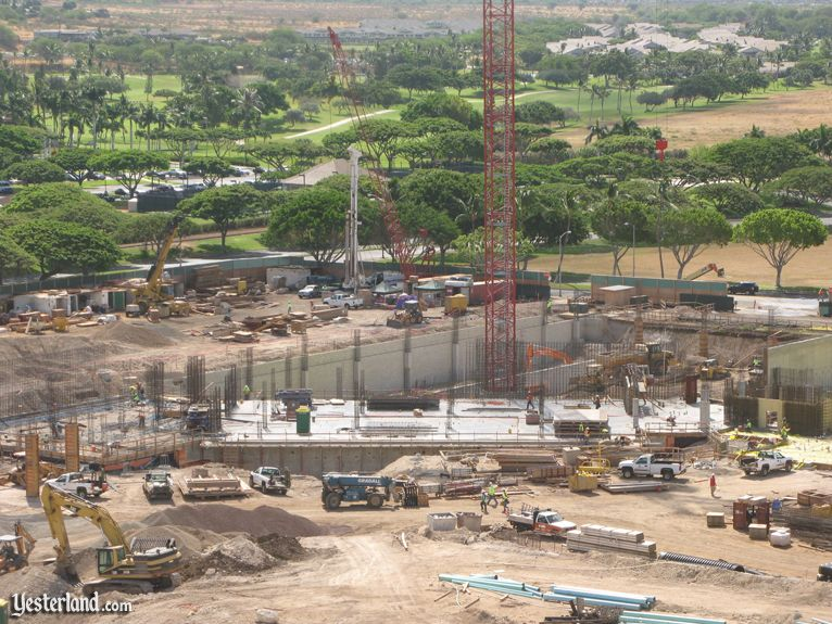 Disney resort construction at Ko Olina, Hawai'i, July 31, 2009