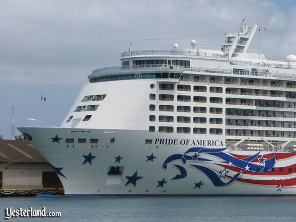 Photo of bow of Pride of America