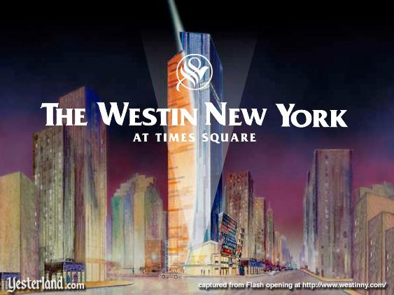 Screen capture of Flash opening at Westin New York website