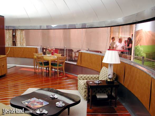 The interior of the Dymaxion House is bright and open