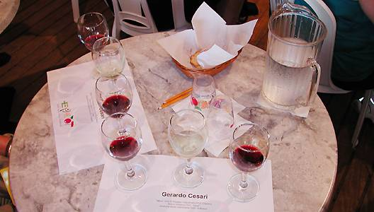 Photo of wine seminar table