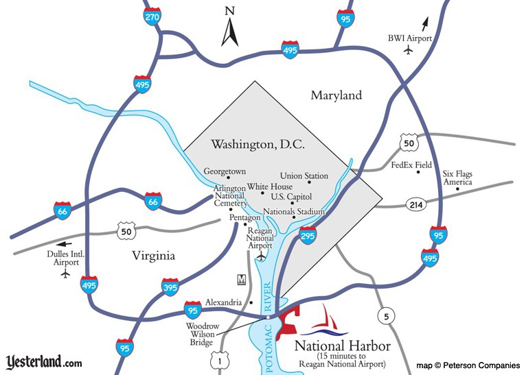 Map showing location of National Harbor