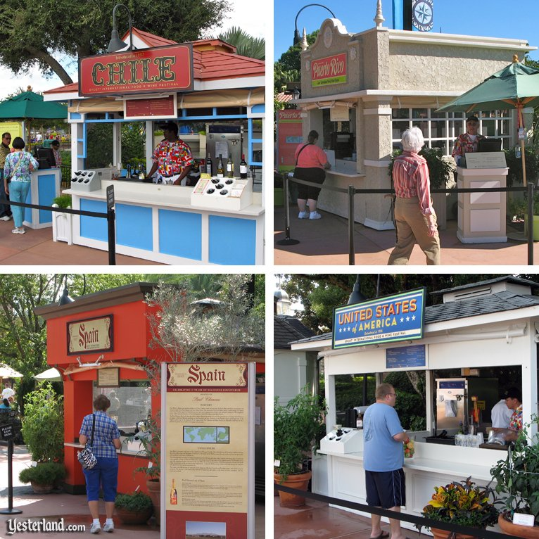Marketplaces from the 2010 Epcot International Food and Wine Festival that did not return