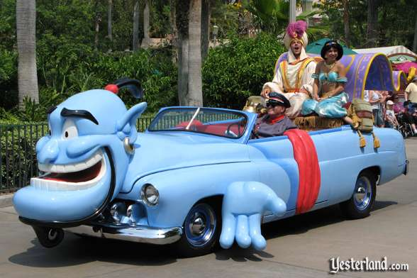 Aladdin car in Disney Stars and Motor Cars parade