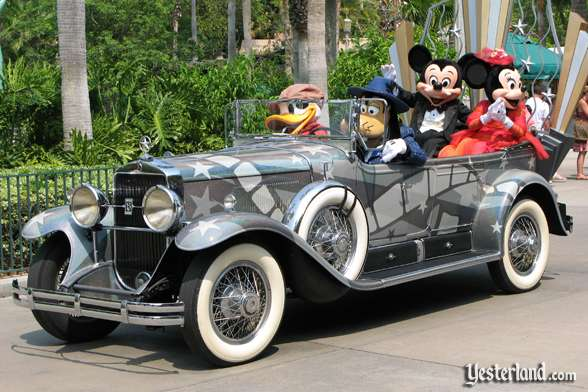 Cadillac with Donald, Goofy, Mickey, and Minnie