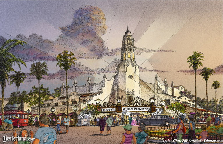 Concept for the Carthay Circle Theatre at Disney California Adventure © Disney