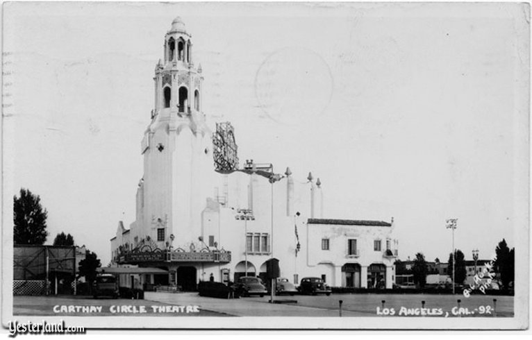 A postcard of the Carthay Circle Theatre in Los Angeles