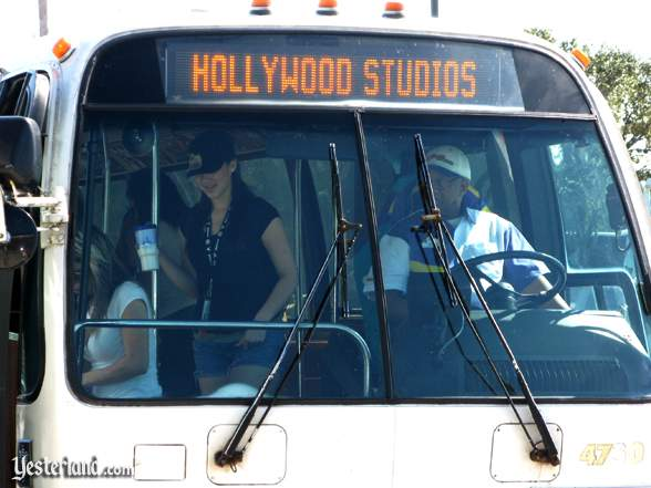 Disney's Hollywood Studios destination on a WDW bus