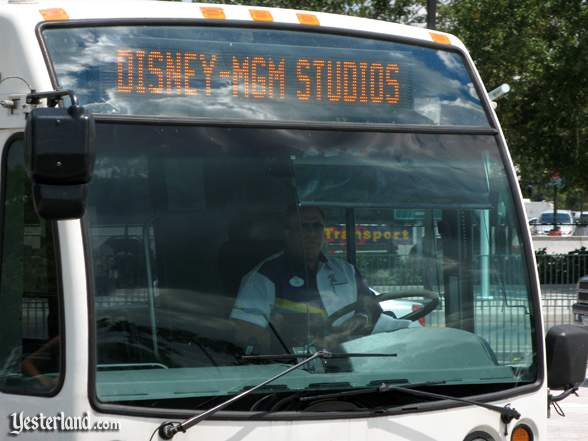 Disney-MGM Studios destination on a WDW bus