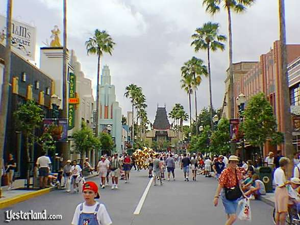 Disney's Hollywood Boulevard, leading to the most famous movie theater in the world