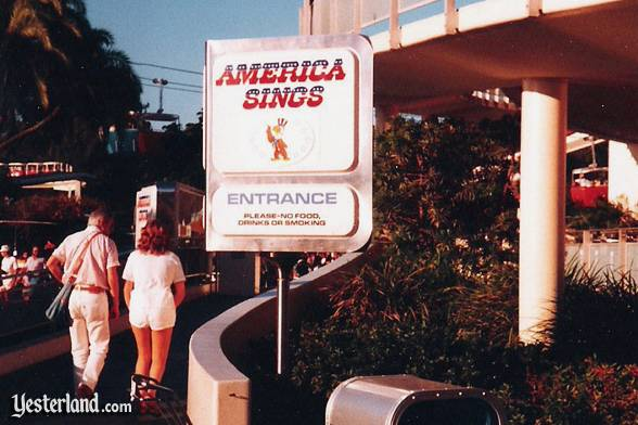 Disneyland America Sings sign