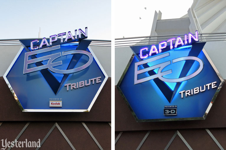 Captain EO Tribute sign in 2010 (with Kodak logo)