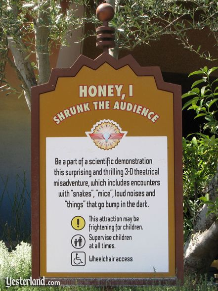 Photo of Honey, I Shrunk the Audience warning sign
