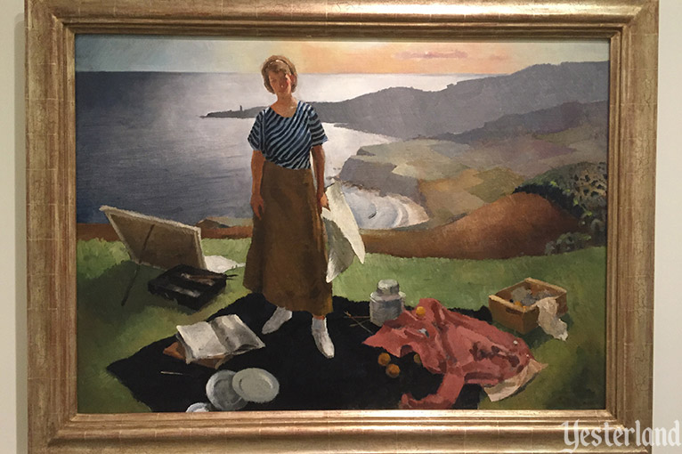 """Mary by the Sea"" by Lee Blair, 1934, at the Hilbert Museum"