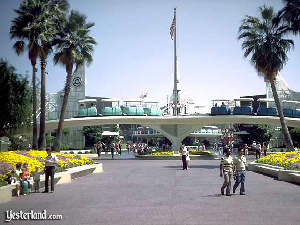 Photo of entrance to Tomorrowland circa 1976