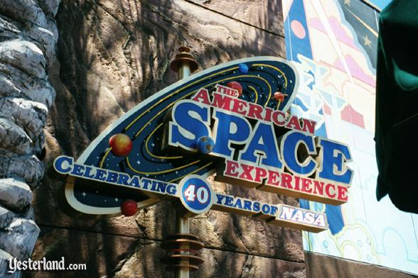 Photo of the American Space Experience sign